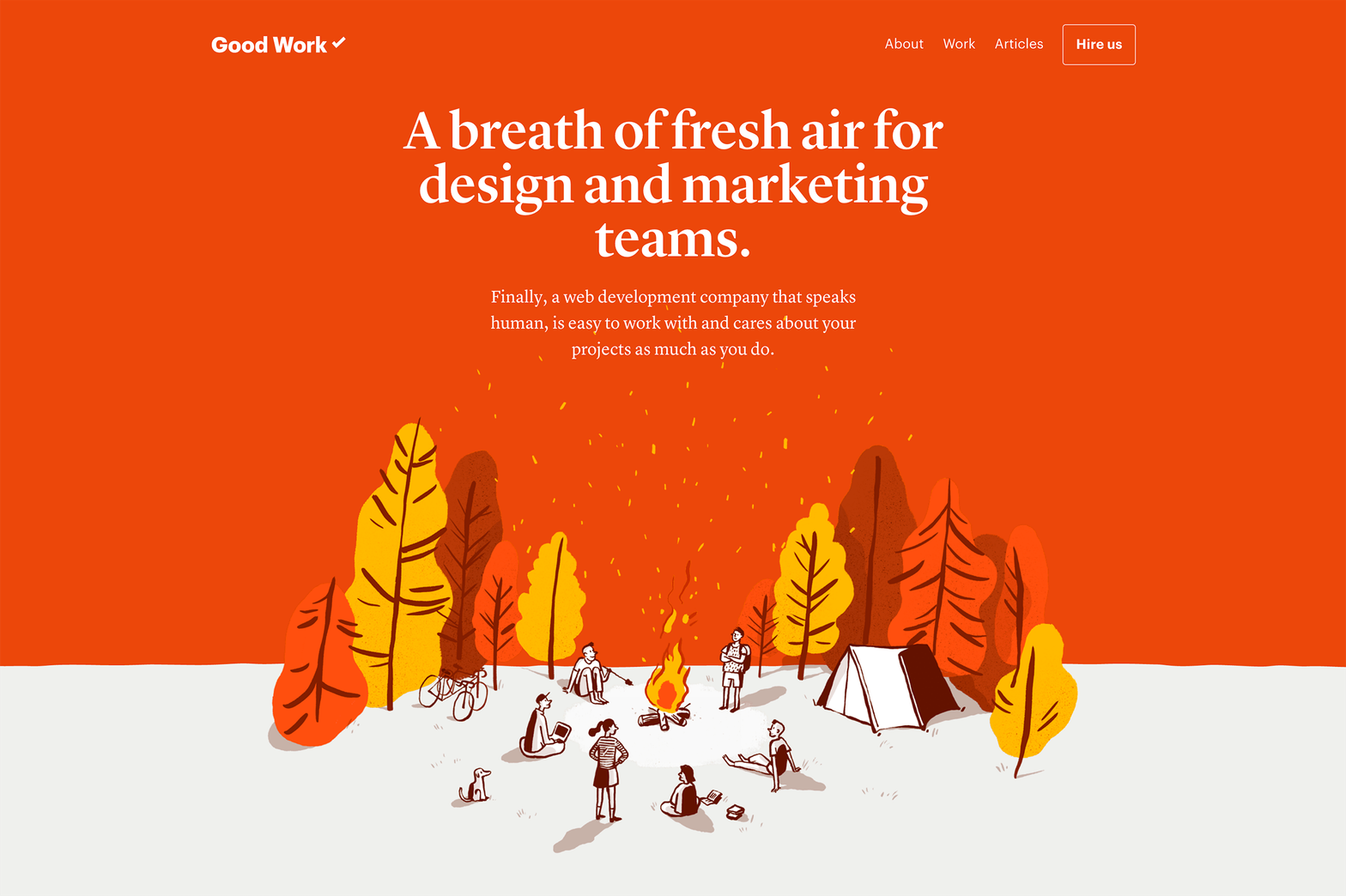Good Work website
