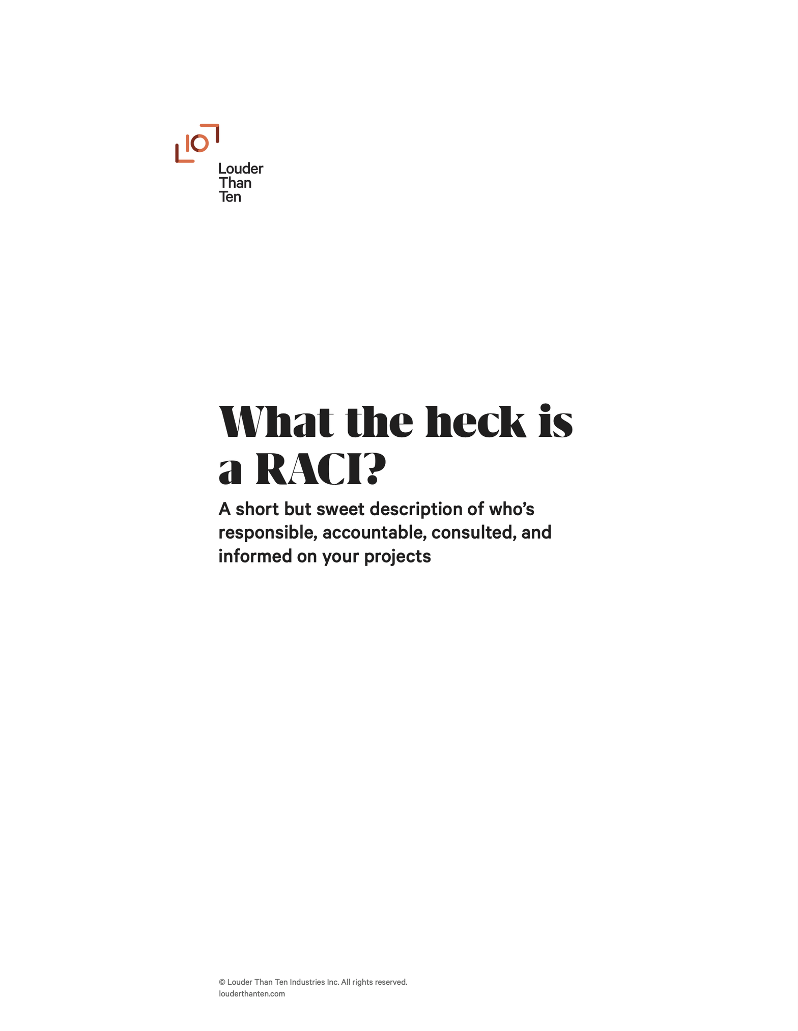 The cover of our RACI PDF guide
