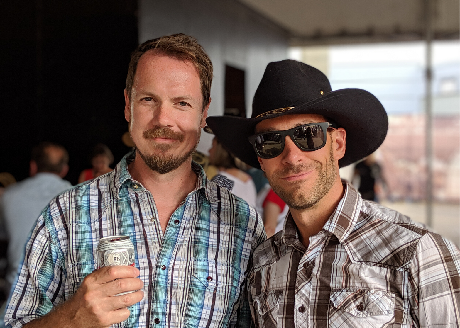 Peter and teammate, Scott at a Calgary Stampede event