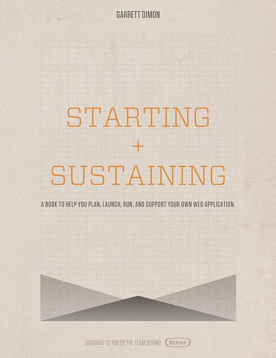 Starting and Sustaining cover